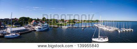 Harbor of Breege on Ruegen Island at Baltic Sea, Mecklenburg western Pomerania, Germany