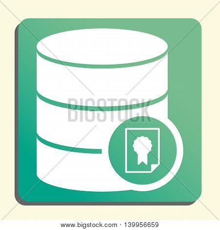 Database Certificate Icon In Vector Format. Premium Quality Database Certificate Symbol. Web Graphic