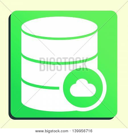 Database Cloud Icon In Vector Format. Premium Quality Database Cloud Symbol. Web Graphic Database Cl