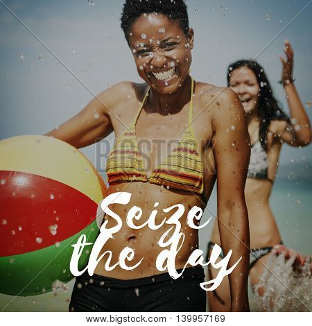 Seize the Day Collect Moments Memories Enjoyment Concept