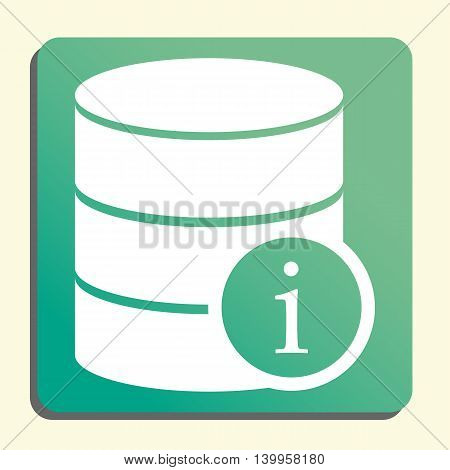 Database Info Icon In Vector Format. Premium Quality Database Info Symbol. Web Graphic Database Info