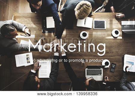 Marketing Strategy Branding Advertising Commercial Plan Concept
