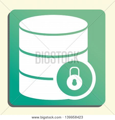 Database Lock Close Icon In Vector Format. Premium Quality Database Lock Close Symbol. Web Graphic D