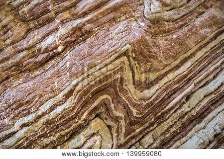Stunningly Beautiful Original Stone Walls Of The Gorge Panta Vrexei In Evritaniia, Greece