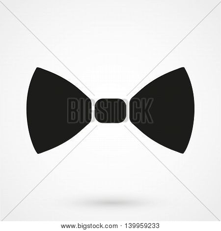 Bow Icon On A White Background. Simple Vector Illustration
