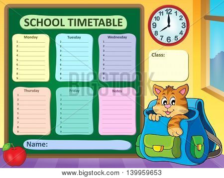 Weekly school timetable concept 3 - eps10 vector illustration.