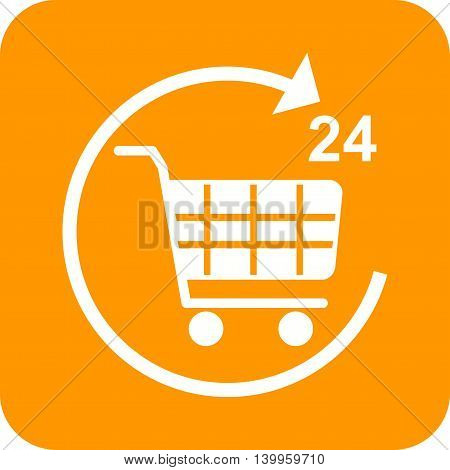 Shopping, mobile, store icon vector image. Can also be used for shopping. Suitable for use on web apps, mobile apps and print media.