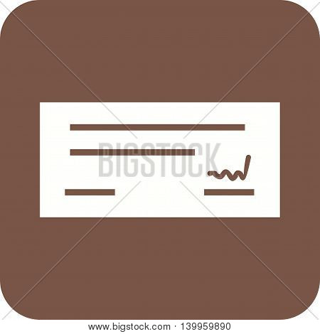 Cheque, signed, receipt icon vector image.Can also be used for shopping. Suitable for use on web apps, mobile apps and print media.