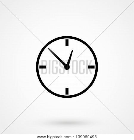Watch Icon On A White Background. Simple Vector Illustration