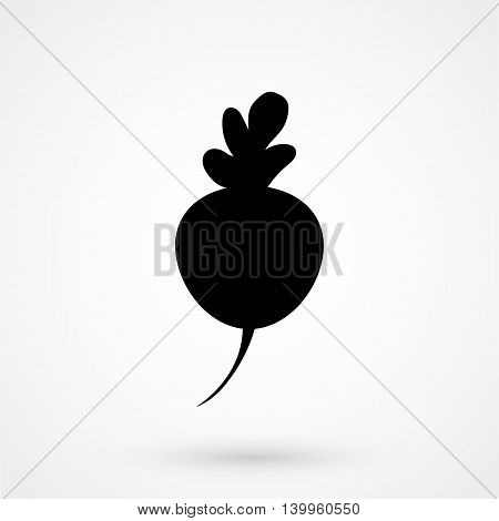 Turnip Icon On A White Background. Simple Vector Illustration