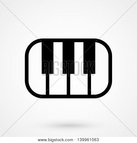 Piano Icon On A White Background. Simple Vector Illustration
