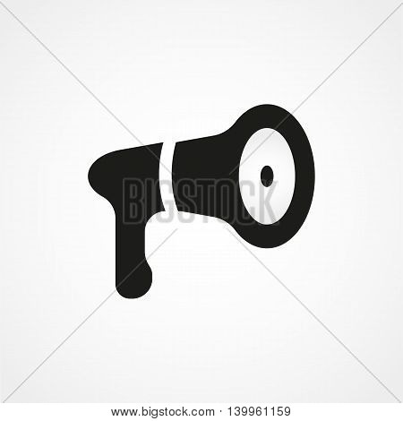 Megaphone Icon On A White Background. Simple Vector Illustration