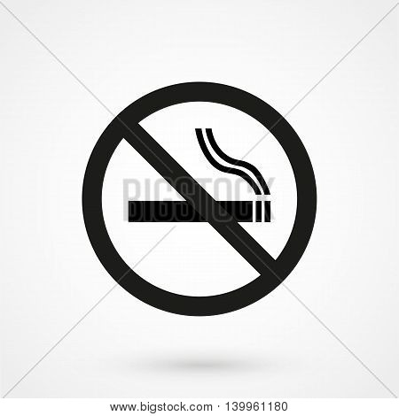 No Smoking Sign On A White Background. Simple Vector Illustration