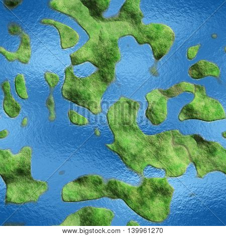 Seamless Texture Earth abstract land and sea