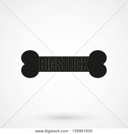 Bone Icon On A White Background. Simple Vector Illustration