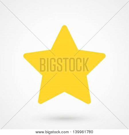 Gold Star Icon On A White Background. Simple Vector Illustration