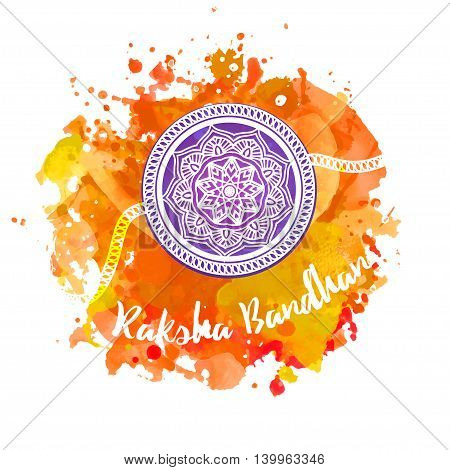 Raksha Bhandhan invitation cards with lace ornament. Brother and sister festival in India. Is also called Rakhi Purnima religious festival, Happy Raksha Bandhan celebration