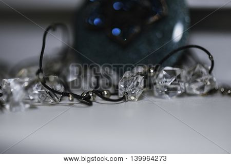 gems and jewelery image on a white background