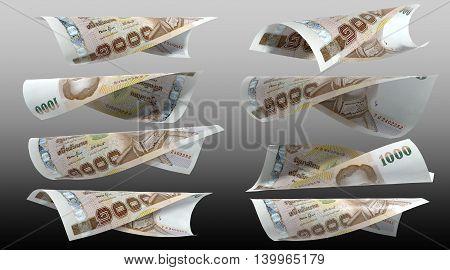 1000 Baht Thai money : Thailand Currency 1000 Baht