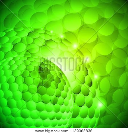 Seamless spotted green spherical abstraction. Disco gradient