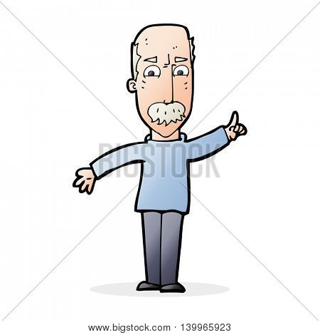 cartoon man issuing stern waring