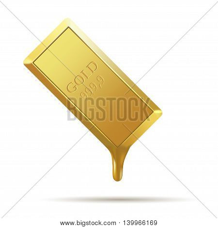 gold bar isolated on a white background