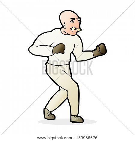 cartoon victorian boxer