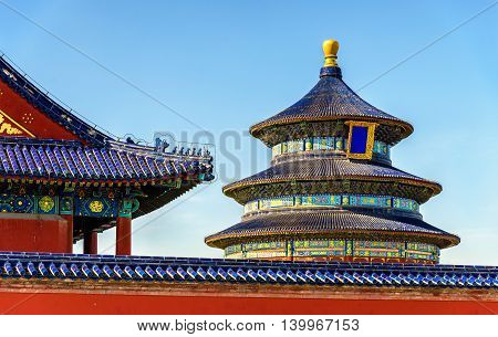 The Hall of Prayer for Good Harvests in Beijing. UNESCO World Heritage site in China