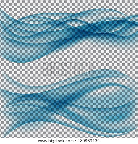 Abstract Wave on Transparent Background. Vector Illustration. EPS10