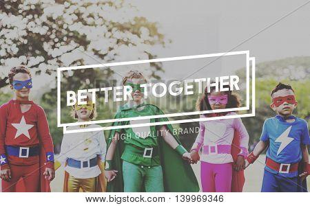 Better Together Children Childhood Innocent Kids Concept