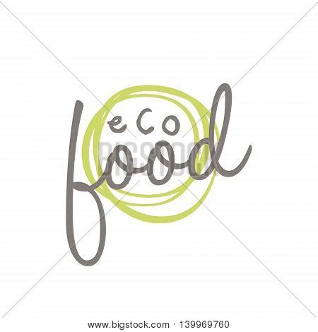 Eco Food Product Logo Design. Cool Flat Vector Design Template On White Background