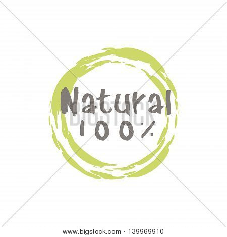 10 Percent Natural Food Product Logo Design. Cool Flat Vector Design Template On White Background