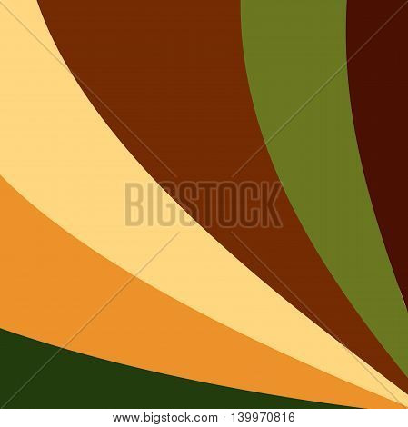 Colorful smooth light lines background. Vector illustration, eps 10