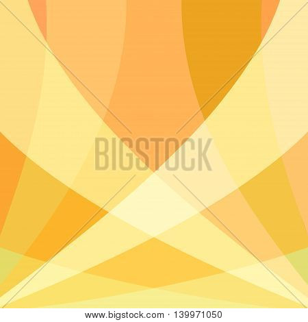 Colorful smooth yellow twist light lines vector background. Eps 10.
