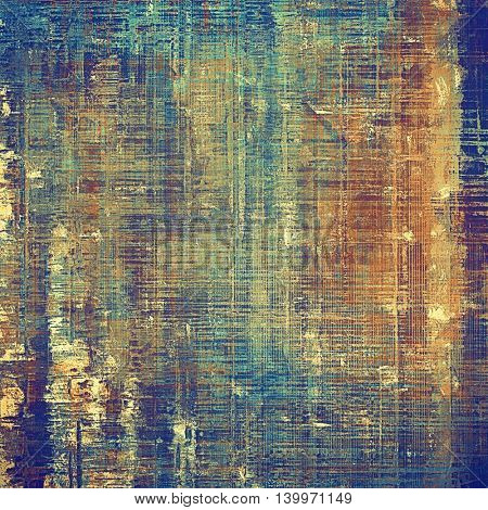 Abstract grunge background or damaged vintage texture. With different color patterns: yellow (beige); brown; blue; red (orange); purple (violet); cyan