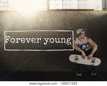 Forever Young Lifestyle Youth Adolescence Teens Concept