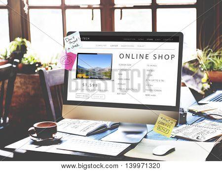 Online Shop Shopping Internet Website Concept