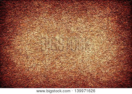Brown Revetment Wall Putty Vignetting Effect Texture Scratched Styled