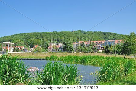 View to Village of Bad Liebenstein in Thuringian Forest,Thuringia,Germany