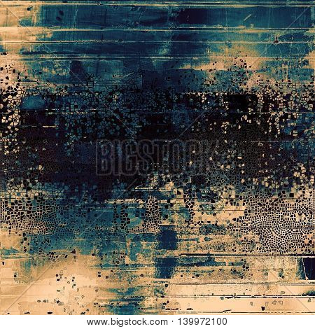 Grunge colorful texture, aged weathered background with different color patterns: yellow (beige); brown; gray; black; blue; cyan