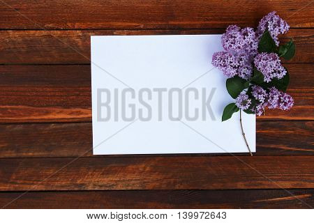 a one white paper with purple flowers