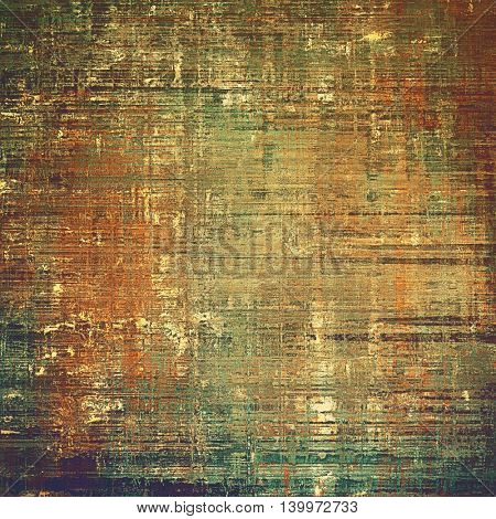 Vintage old retro background with ancient style design elements and different color patterns: yellow (beige); brown; gray; green; red (orange); purple (violet)