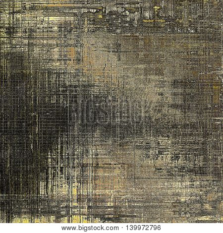 Grunge background with delicate aged texture. Antique backdrop with retro vintage elements and different color patterns: yellow (beige); brown; gray; black