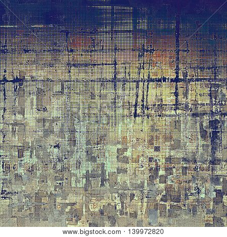 Vintage mottled frame, textured grunge background with different color patterns: yellow (beige); brown; gray; blue; red (orange)