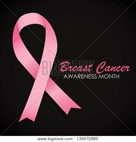 Breast Cancer Awareness Pink Ribbon Vector Illustration EPS10