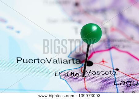 El Tuito pinned on a map of Mexico