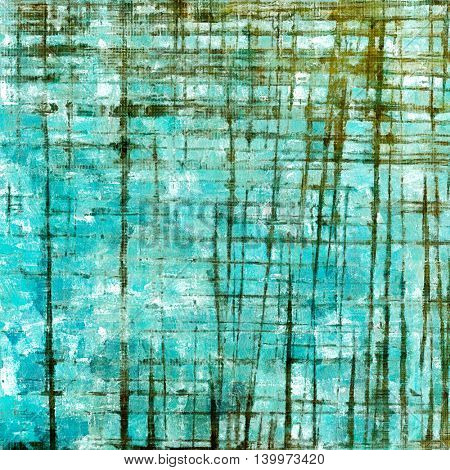 Grunge texture in ancient style, aged background with creative decor and different color patterns: yellow (beige); brown; green; blue; cyan; white