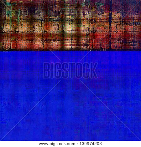 Grunge old texture used as abstract vintage style background. With different color patterns: yellow (beige); green; blue; red (orange); purple (violet); cyan