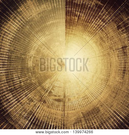 Spherical grunge background for your design, aged shabby texture with different color patterns: yellow (beige); brown; gray; black
