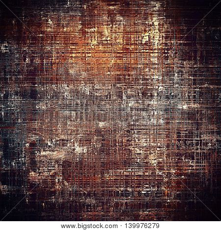 Grunge texture in ancient style, aged background with creative decor and different color patterns: yellow (beige); brown; gray; black; red (orange); cyan
